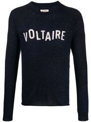 Zadig And Voltaire Kennedy Cashmere Logo Pullover 60