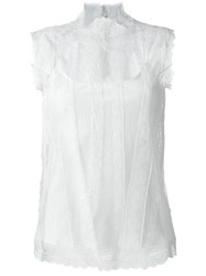 Ermanno Scervino Sheer Lace Tank Top White