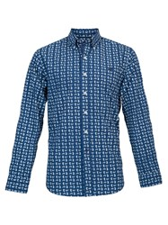 Raging Bull Big And Tall Long Sleeve Paisley Pattern Shirt Navy