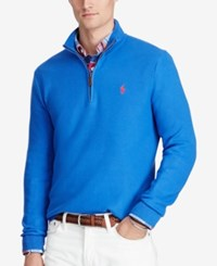 Polo Ralph Lauren Men's Half Zip Sweater Royal Blue