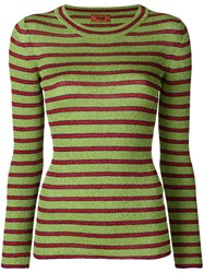 Missoni Striped Knitted Top Green