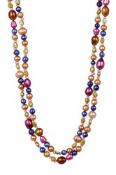 3 8Mm Dyed Multicolor Cultured Freshwater Pearl Endless Necklace Black