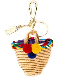 Dolce And Gabbana Basket Keyring Multicolour