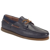 Ralph Lauren Dayne Leather Boat Shoes Navy