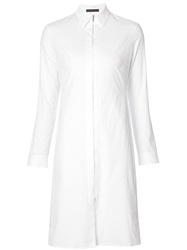 The Row Zip Front Shirt Dress White