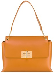 Tom Ford Day Shoulder Bag Women Cotton Calf Leather Polyester One Size Yellow Orange