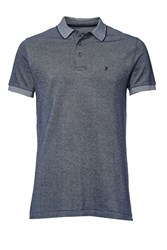 French Connection Men's Winter Jumbo Pique Polo Shirt Marine
