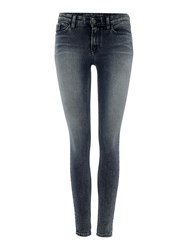 Calvin Klein High Rise Skinny Jean In Turbulent Blue Denim Light Wash