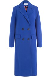 Emilio Pucci Wool Coat With Cashmere Blue