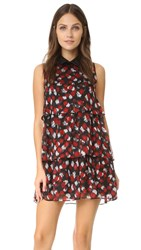 Just Cavalli Scratched Leo Ruffle Dress Corallo Variant
