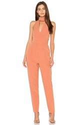 Lavish Alice Keyhole High Neck Jumpsuit Tan