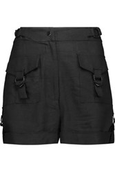 Zimmermann Henna Linen Blend Shorts Black