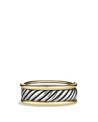 David Yurman Cable Band Ring With Gold Silver Gold