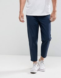 Kiomi Slim Fit Cropped Chino In Navy