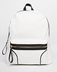 New Look Backpack With Trim White