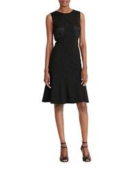 Lauren Ralph Lauren Petite Sleeveless Bow Back Jersey Fit And Flare Dress Black