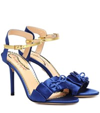 Charlotte Olympia Satin Sandals Blue