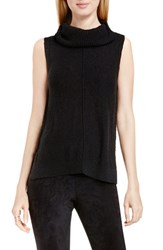Vince Camuto Women's Two By Sleeveless Cowl Neck Sweater Rich Black