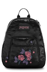 Jansport Half Pint Fx Backpack Black Satin Rose