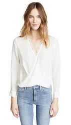 L'agence Rosario Blouse With Lace Ivory Ivory