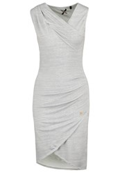 Khujo Postillo Jumper Dress Light Grey Melange