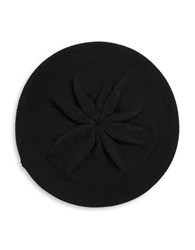 Michael Michael Kors Studded Logo Wool Blend Knit Beret Black