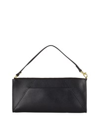 Neiman Marcus Leather Travel Clutch Bag Black