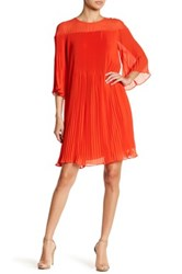 Erin Fetherston Savoy Pleated Dress Red