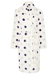 John Lewis Spot Fleece Robe Multi