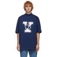 Calvin Klein 205W39nyc Blue Yale Oversized Mock Neck T Shirt