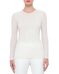 Akris Long Sleeve Cashmere Pullover Anemone