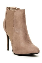 Anna Everly Heeled Bootie Beige