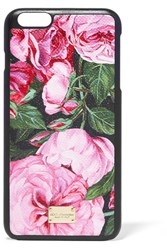 Dolce And Gabbana Printed Textured Leather Iphone 6 Plus Case Pink