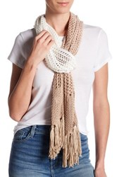 Collection Xiix Ombre Knit Slimmy Scarf Beige
