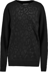 Current Elliott The Oversized Cotton Blend Sweatshirt Black