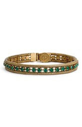 Loren Hope Women's 'Clara' Crystal Bracelet Emerald