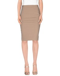 Elisabetta Franchi 24 Ore Skirts Knee Length Skirts Women Dove Grey