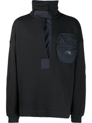 Damir Doma Patch Pocket Sweater Black