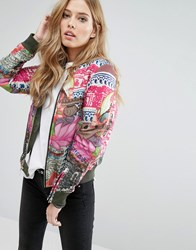 Replay Reversible Bomber Jacket Black Multi