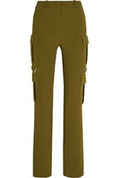 Thierry Mugler Mugler Stretch Crepe Skinny Pants Army Green