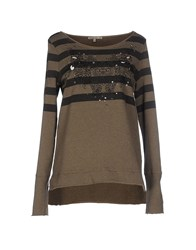 Patrizia Pepe Topwear Sweatshirts Women Military Green