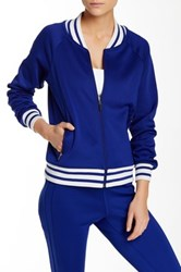 Abs By Allen Schwartz Stripe Jacket Blue