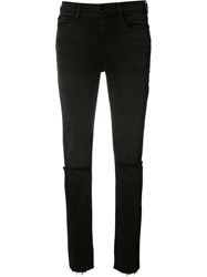 Frame Denim 'Le High' Straight Leg Jeans Black