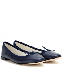 Repetto Cendrillon Leather Ballerinas Blue
