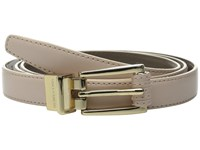 Vince Camuto 20Mm Reversible Belt With Stitched Wrap Roller Buckle Rose Chocolate Women's Belts Gold