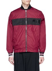 Mcq By Alexander Mcqueen Logo Print Colourblock Jacket Red