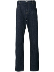 Kenzo Straight Leg Jeans Men Cotton Polyester 31 Blue