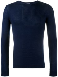 Lot 78 Lot78 Ribbed Sweater Blue