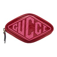 Gucci Red Patent Small Logo Wrist Pouch