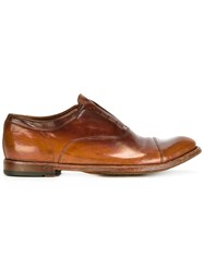 Officine Creative Laceless Oxfords Brown